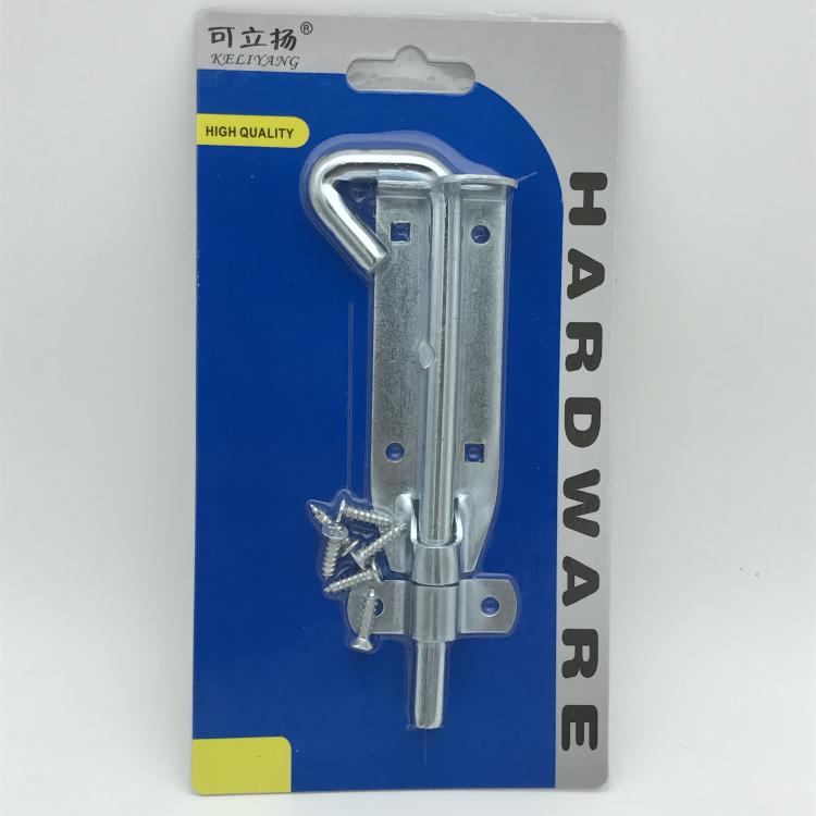 吸卡包装插销6英寸镀锌勾头插销带螺丝