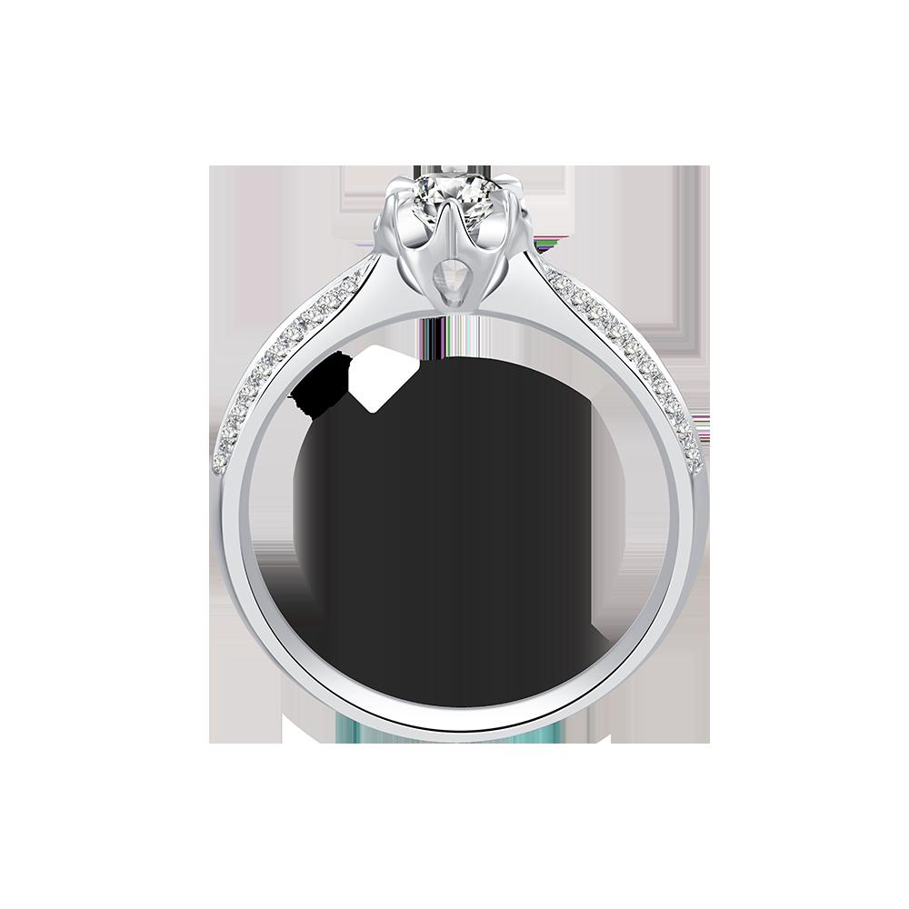 常德Dmallovo/玛丽莱钻石Blossom系列Belief白18K金70分H色结婚钻戒