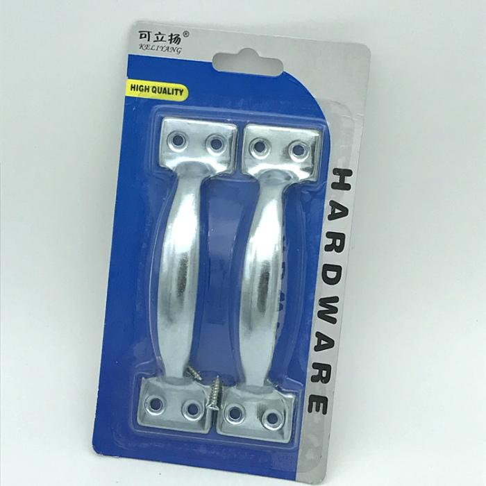 吸塑包装镀锌门拉手A型拉手2只一卡带螺丝