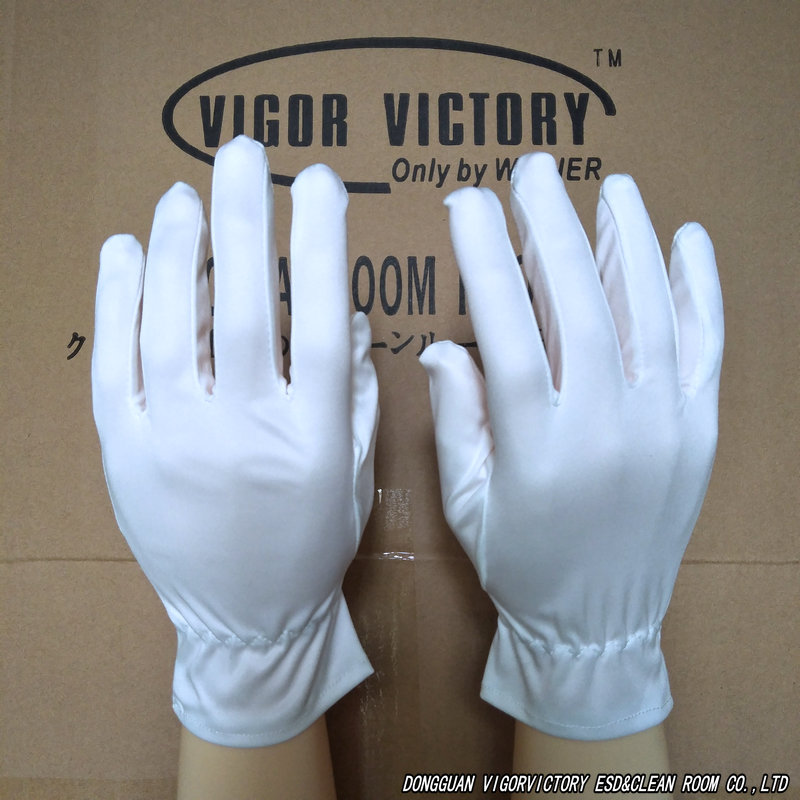 超细纤维手套珠金行宝玉石无尘布手套广东东莞常平防静电生产厂家白色背筋手套