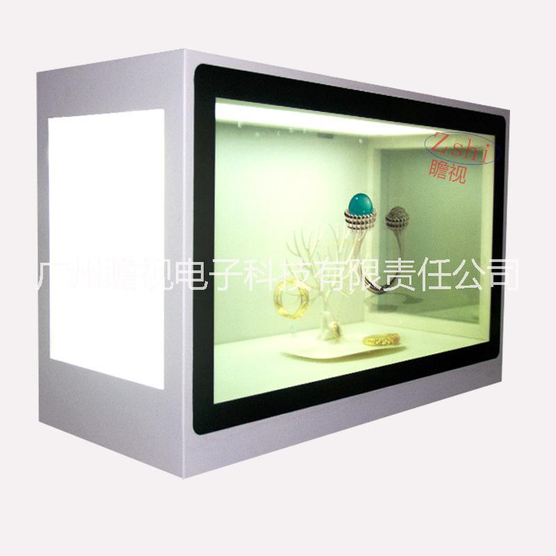 定制 22-85寸透明屏展示柜 透明显示屏展柜