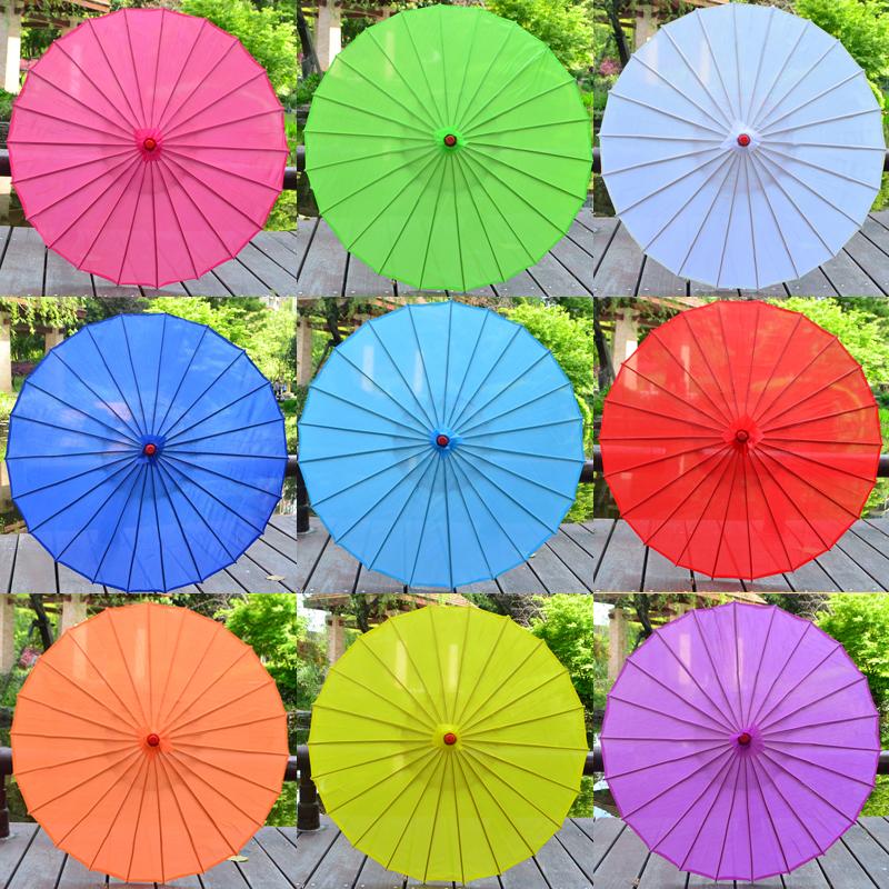安若素绸布伞空白绘画伞工艺伞diy幼儿教具油纸伞装饰伞古典花伞