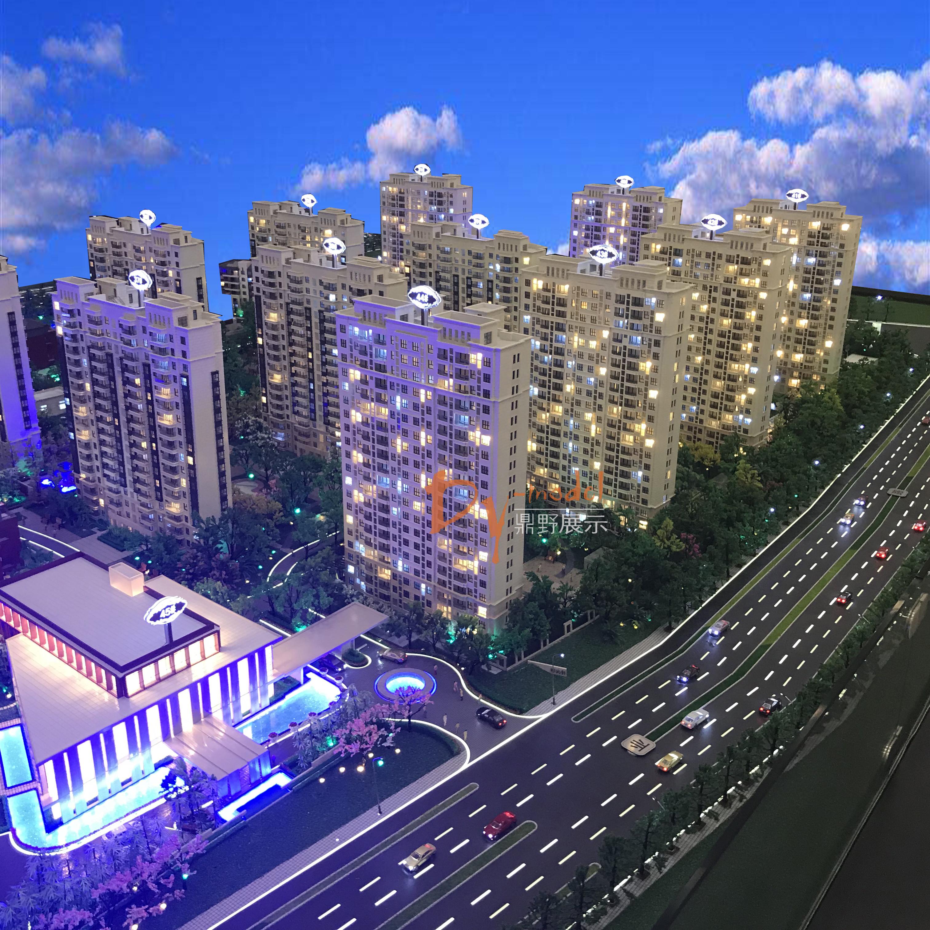 高端住宅建筑模型设计 建筑模型设计展示 展馆模型设计