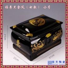 宠物陶瓷骨灰盒纯白图片定制 各种尺寸殡葬用品陶瓷棺材棺