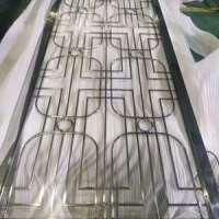 佛山不锈钢屏风定制 酒店书房隔断中式装饰效果图 客厅玄关金属花格