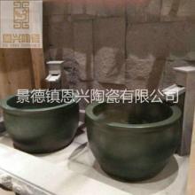 定做精美陶瓷沐浴缸 温泉泡澡缸 景德镇陶瓷大缸厂家