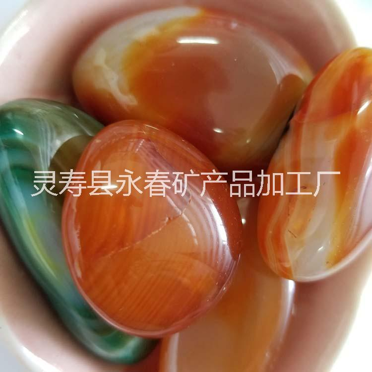 供应鱼缸装饰铺底用天然玉石 碎石 手链项链消磁用玛瑙石