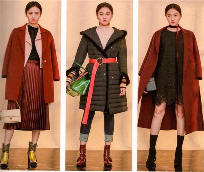 供应羊毛呢大衣品牌折扣女装折扣批发