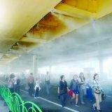移动式户外喷雾降温设备/专注户外喷雾降温系统/佛山户外喷雾降温系统