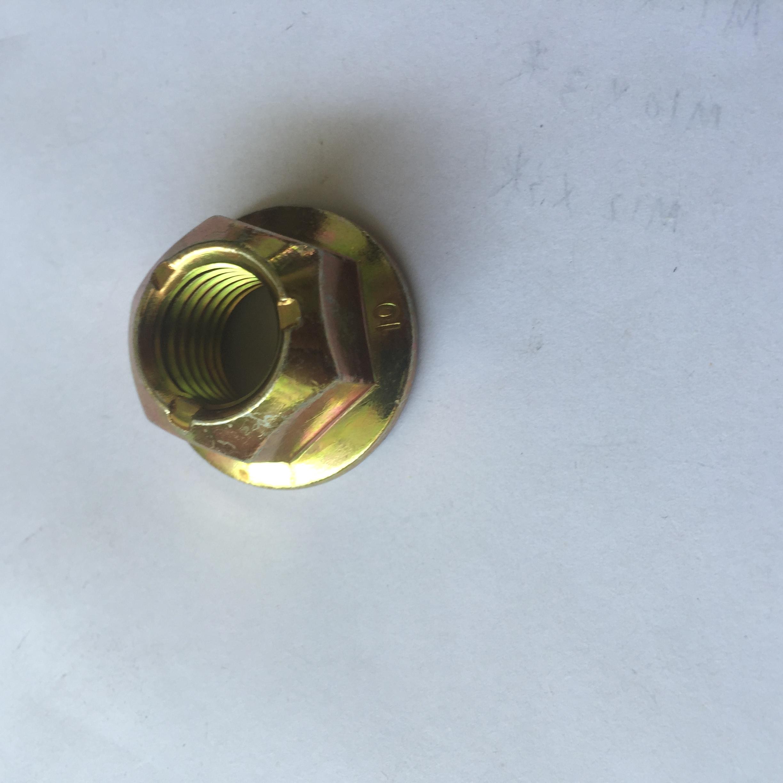 金属压点锁紧螺母 金属自锁螺母定制 10级M16压点锁紧螺母 金属锁紧螺母供应商