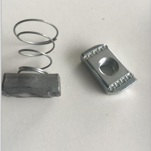 弹簧螺母 朔异螺母 槽钢锁扣 抗震支架专用螺母 管廊螺母 M6-M16