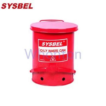 防火垃圾桶WA8109500  14G红色油渍废弃物防火垃圾桶