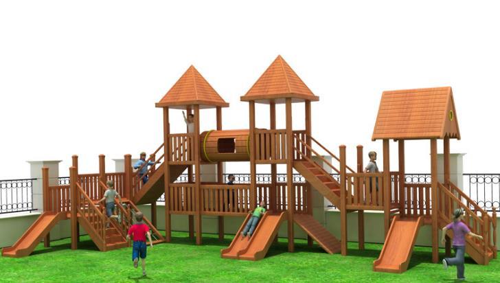大型户外公园多功能木制游乐设备设施滑梯木质幼儿园大型滑梯组合