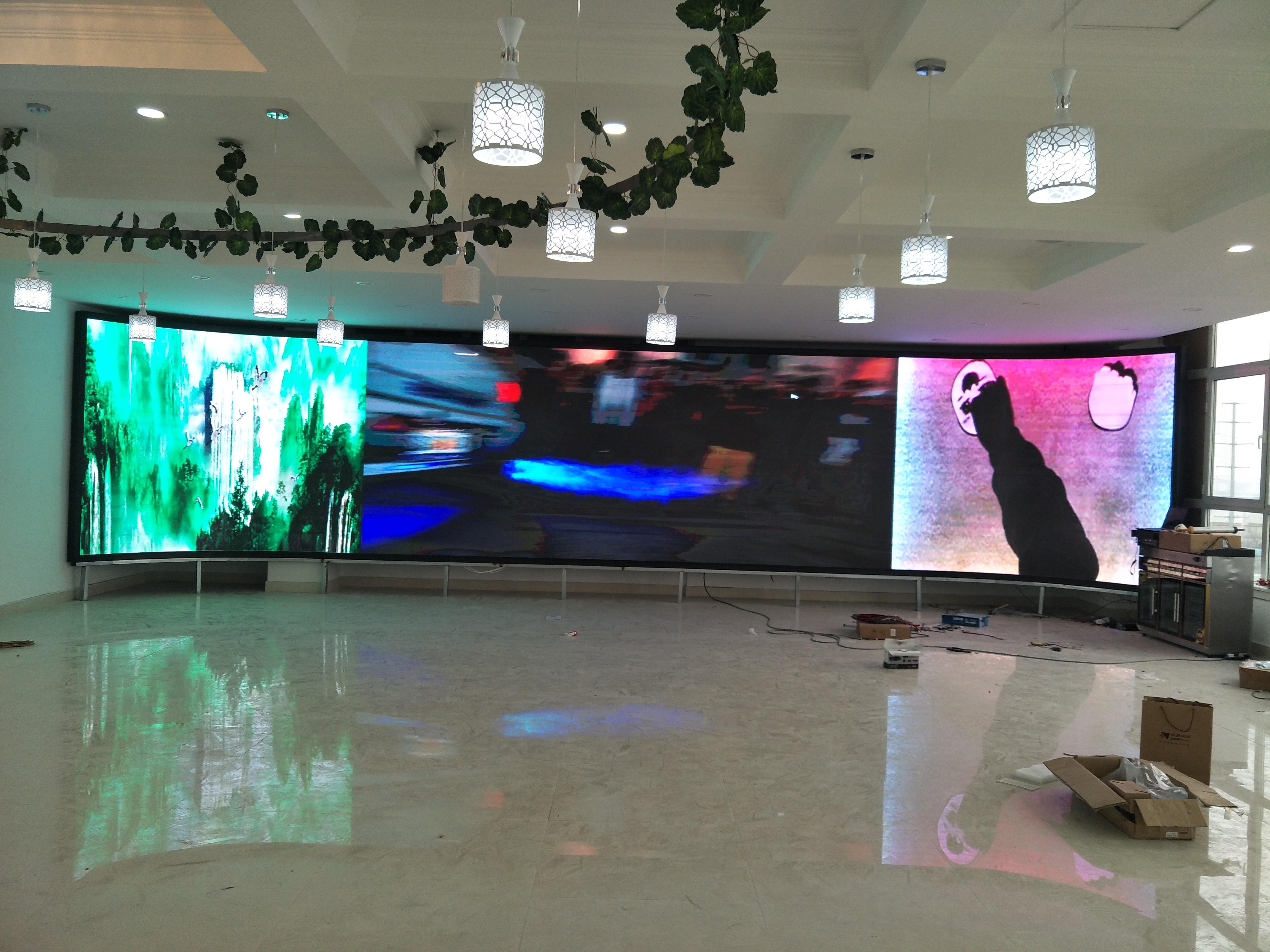 LED室内屏山东LED展厅舞台屏厂家LED室内可移动全彩显示屏 LED显示屏展厅LED屏宣传屏