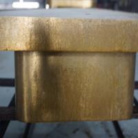 商超货架 道具 桌椅仿古颜色处理 不锈钢仿古铜