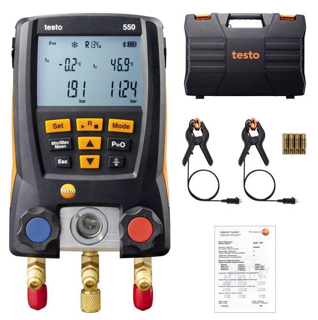 testo550智能基础级电子冷媒表组testo550德图代理