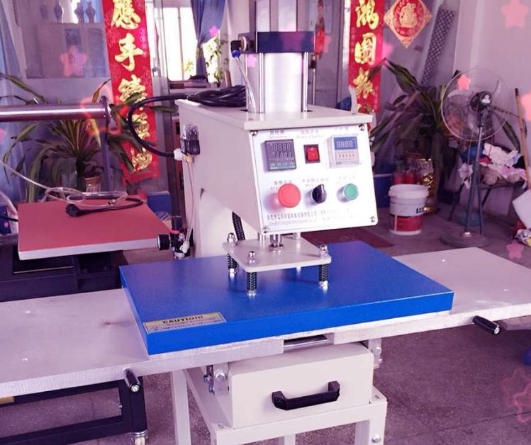 东莞厂家烫画机,气动双工位烫画机(经久耐用,10年品牌)