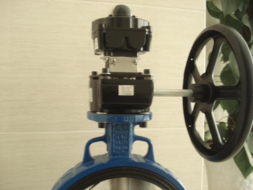 DN50手动涡轮蝶阀配套限位开关防爆型ALS-400M,IP68水下3米
