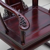厂家黑酸枝实木圈椅客厅中式太师椅缅甸花梨家具
