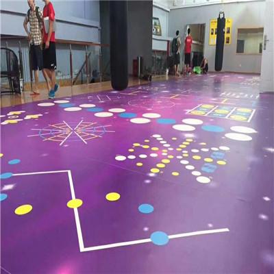 私教功能训练地板 健身房私教区地