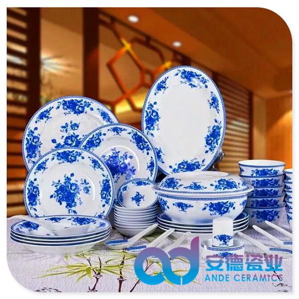 陶瓷餐具套装厂家定制批发 景德镇陶瓷餐具套装厂家定制批发