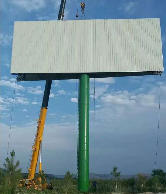 陕西高速公路招商广告牌  双面夹角户外广告牌  擎天柱广告塔制作