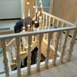 阳台实木护栏进口红橡木材质清晰纹理高端大气驻马店楼梯定制护栏立柱钢梁实木楼梯