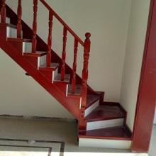欧式简约实木楼梯定制扶手 工厂直销室内别墅复式实木楼梯遂平确山批发
