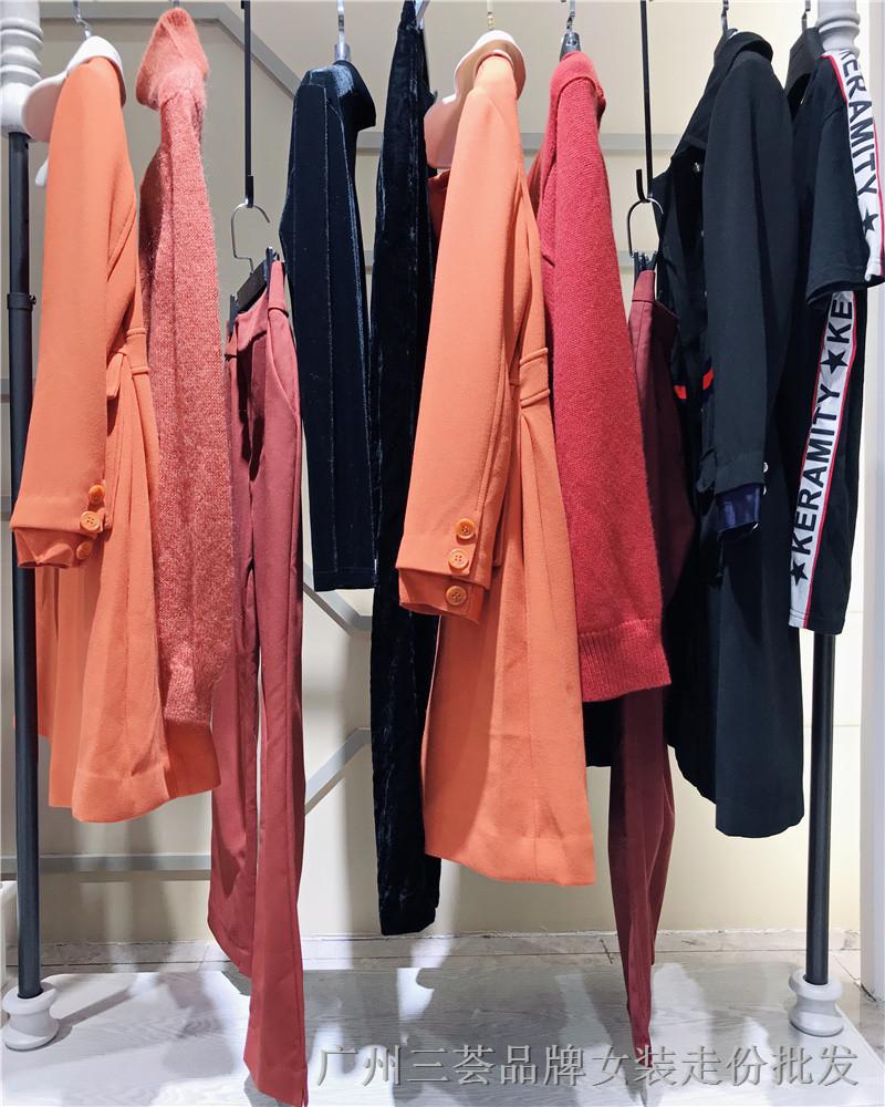 杭州女装品牌米祖18秋冬女装折扣走份批发实体店货源供应