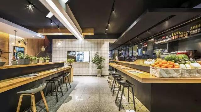 用水泥、水磨石打造复古怀旧的餐厅  工业风水磨石神话