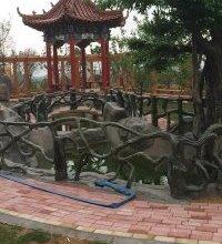 庭院假山景观 庭院雕塑景观  庭院雕塑景观价格 古建凉亭价格仿木景观长廊 仿木景观花架批发