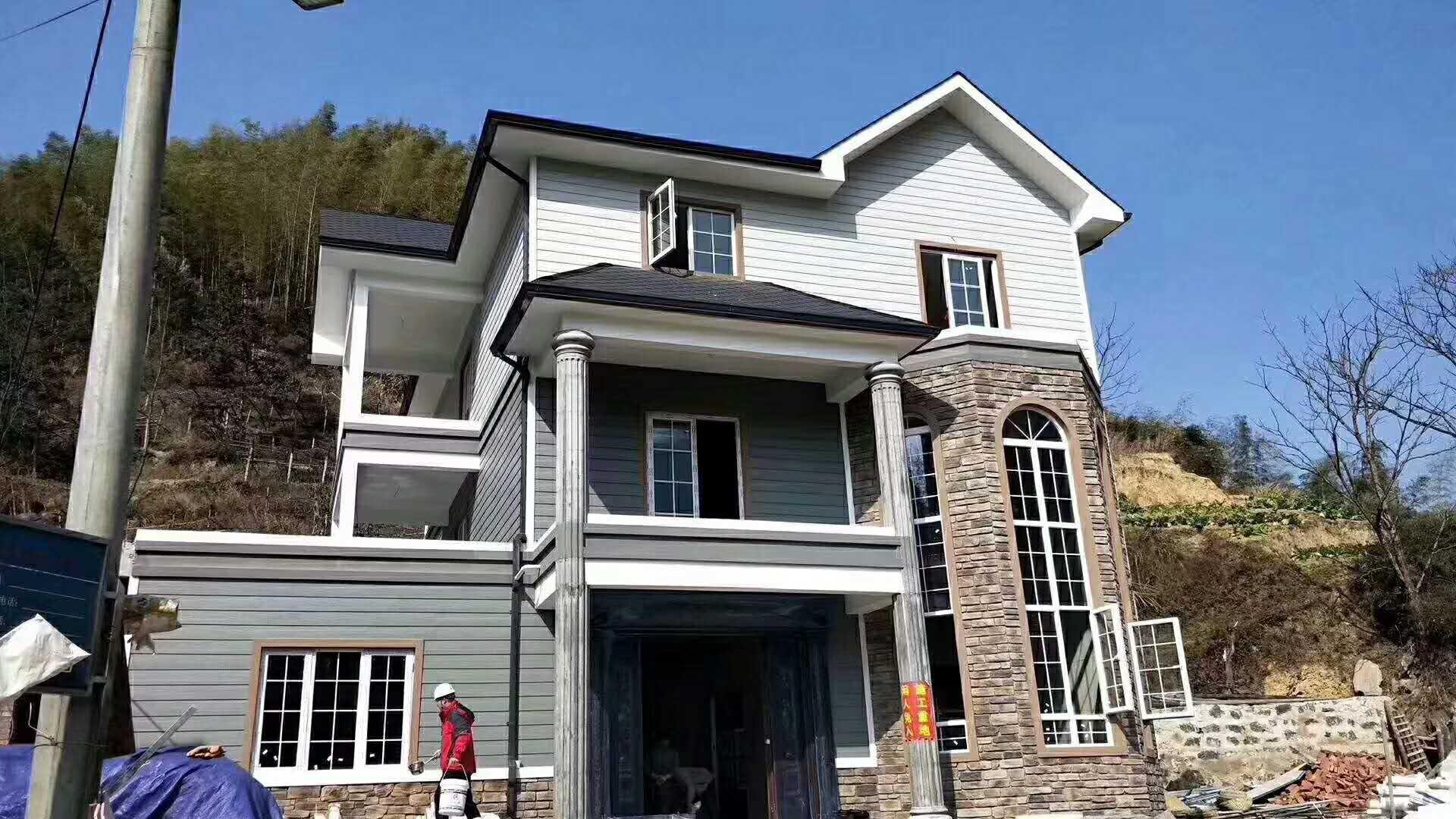 豪华型新型轻钢集成房屋别墅 可移动安置房车抗震防风活动样板