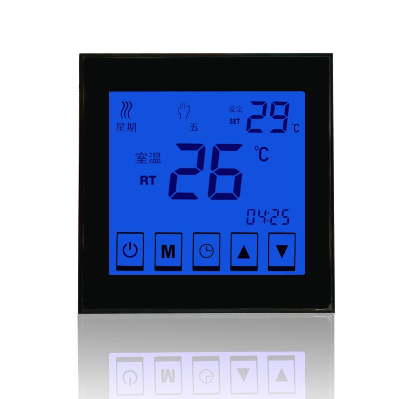 D902 电采暖触摸屏液晶温控器  D902电采暖触摸屏液晶温控器 D902电采暖触屏液晶温控器开关