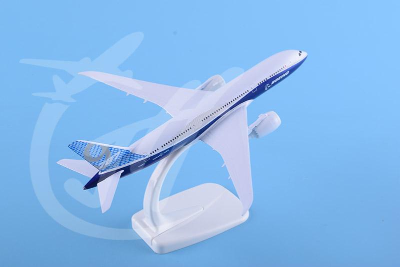 飞机模型B787-9原型机20cm