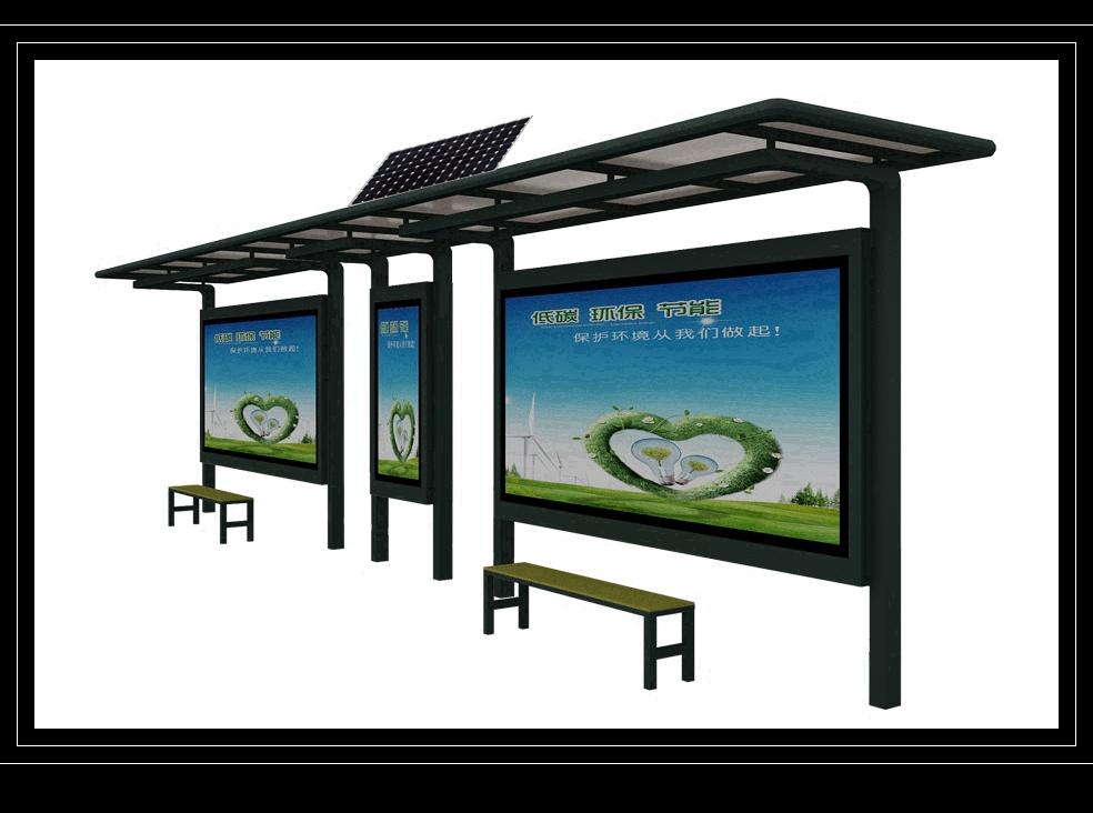 宿迁市金德 太阳能候车亭、节能候车亭、不锈钢候车亭等户外广告设备