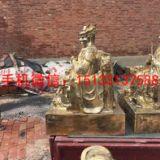 南海龙王铜佛像 纯黄铜佛像