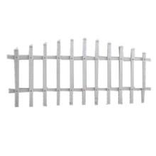 草坪围栏 花园围栏 PVC花园围栏、绿色PVC草坪护栏价格*30CM新钢草坪栅栏厂家*优质草坪护栏批发