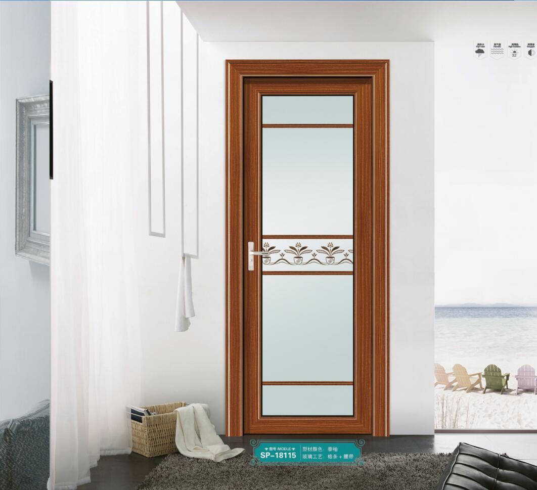 广东卫生间浴室厕所门 工程出租屋用门厂家直销 新款铝门 新款铝合金卫生间门