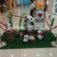 玻璃钢熊猫雕塑图片