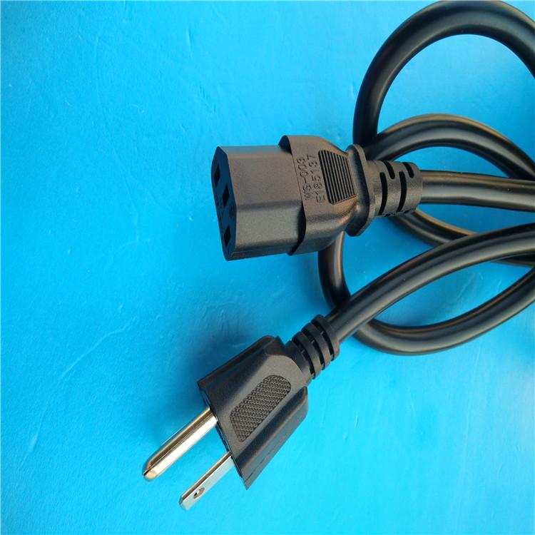 美国UL电源线生产工厂美式三插线