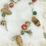 圣诞挂串|圣诞工艺品|圣诞装饰品|自然工艺品批发|工艺品批发|田园风