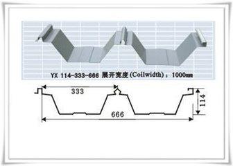 南京宝骏彩钢板屋面YX114-333-666厂家直销  彩钢板YX114-333-666