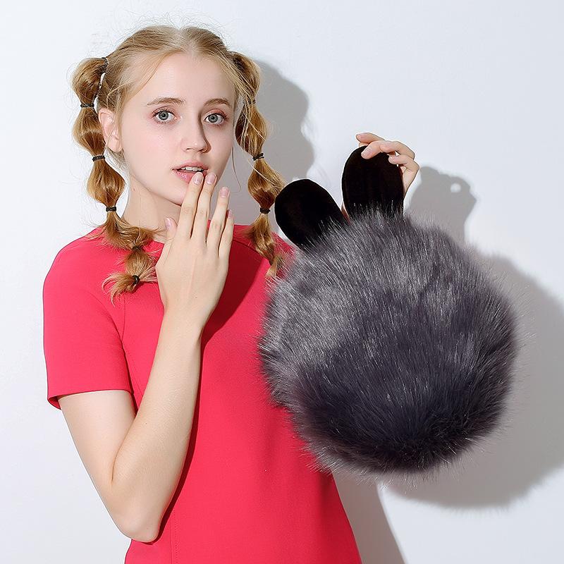 毛球兔暖水袋 毛绒防爆暖宫暖水袋  暖手宝 暖水袋批发