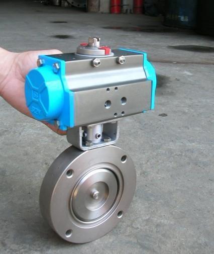 气动不锈钢真空蝶阀GIQ-A、气动不锈钢真空蝶阀、气动真空蝶阀