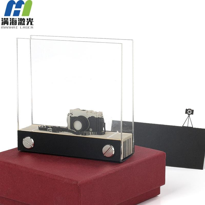 3d立体模型便签纸本创意3d立体相机模型定制3D立体便签纸定制厂家-满海激光雕刻 3d便签纸 立体便签纸