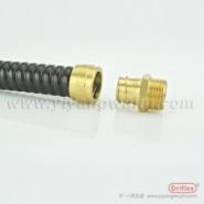 铜镀镍VJ接头配金属防水包塑软管图片