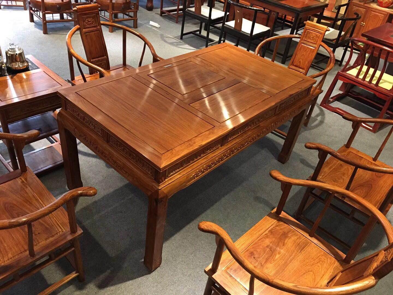 新古典茶台刺猬紫檀家具红木家具
