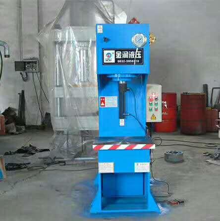 单臂液压设备 专业生产销售小型单柱油压机 酒盒压纹压力机 100t单臂液压机