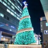 水绿色圣诞树【厂家直销】创意大型酒店圣诞树礼品定制外贸圣诞铁艺LED亮化