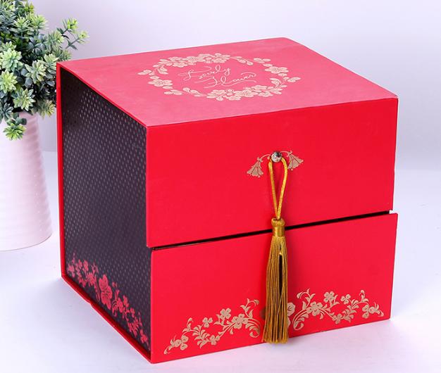 方形翻盖式礼品包装盒彩色牛皮纸